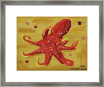Octopus Framed Print by Anthony LaRocca