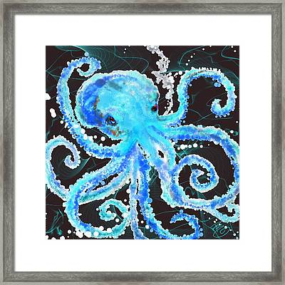 Octopus Bubbles Framed Print