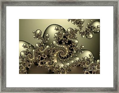 Framed Print featuring the digital art Octopus by Karin Kuhlmann