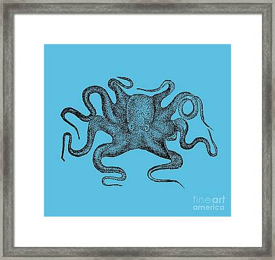 Octopus T-shirt Framed Print by Edward Fielding