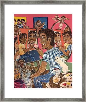Octuple Self-portrait Framed Print