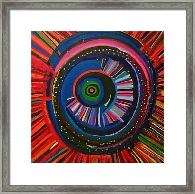 Ocular Energy Path Framed Print