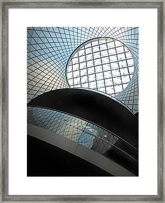 Oculus Abstract Blue Framed Print