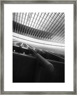 Oculus Abstract Framed Print by Jessica Jenney
