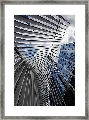Oculus Center And High Rise Framed Print by Robert Ullmann
