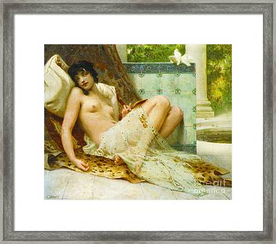 Odalisque Aux Colombes 1900 Framed Print by Padre Art