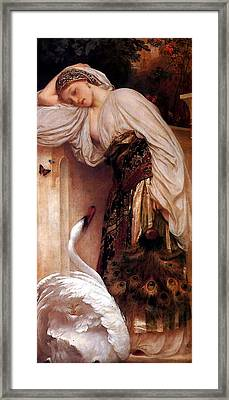 Odalisque  Big Framed Print by Lord Frederick Leighton