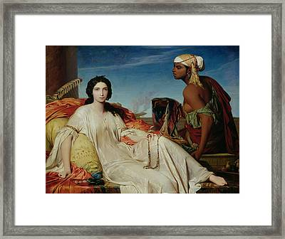 Odalisque Framed Print by Francois Leon Benouville