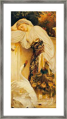 Odalisque Framed Print by Frederic Leighton