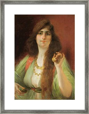 Odalisque With Castagnettes Framed Print