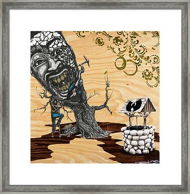 Odb Tree Mining Down By The Wu-tang Well Framed Print by Tai Taeoalii