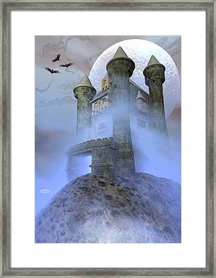 Odd Castle - 3d Render Framed Print by Elenarts - Elena Duvernay Digital Art