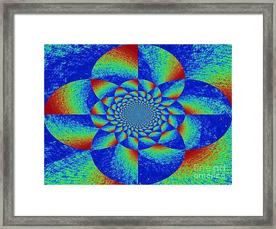 Oddly Mandala Framed Print by Chuck Taylor