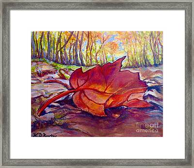 Ode To A Fallen Leaf Painting Framed Print