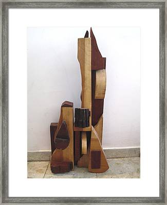 Framed Print featuring the sculpture Ode To A Guitar by Esther Newman-Cohen