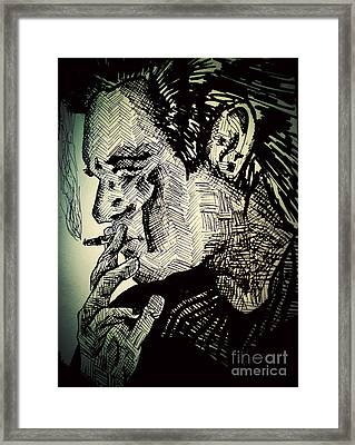 Ode To Cash Framed Print by Nour Refaat