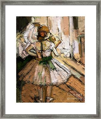 Framed Print featuring the painting Ode To Degas by Carrie Joy Byrnes