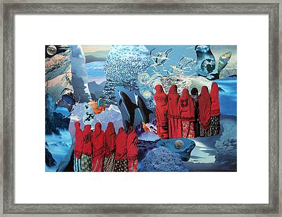 Ode To Gaia II Framed Print by Corinne  Caratti