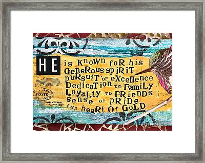 Ode To My Father Framed Print