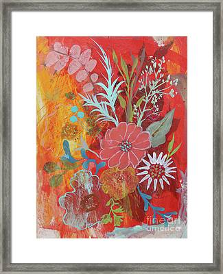 Framed Print featuring the painting Ode To Spring by Robin Maria Pedrero