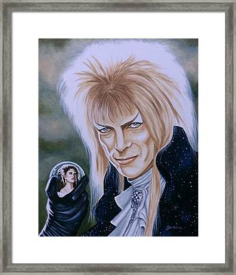 Framed Print featuring the painting Ode To The Goblin King by Al  Molina