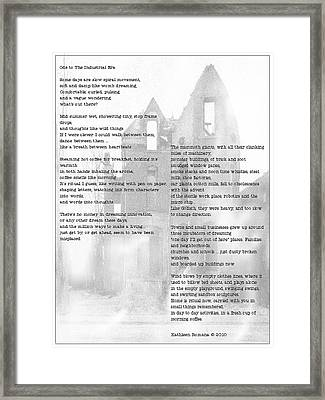 Ode To The Industrial Era Framed Print by Kathleen Romana