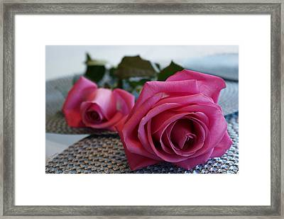 Ode To The Rose Framed Print by Joanne Smoley