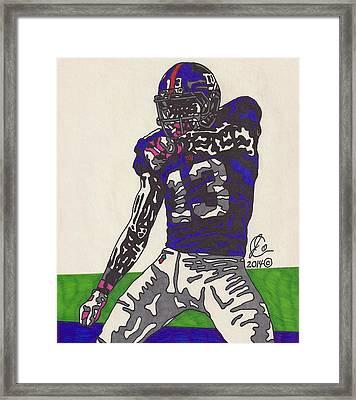 Odell Beckham Jr  Framed Print