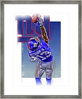 Odell Beckham Jr New York Giants Oil Art 2 Framed Print