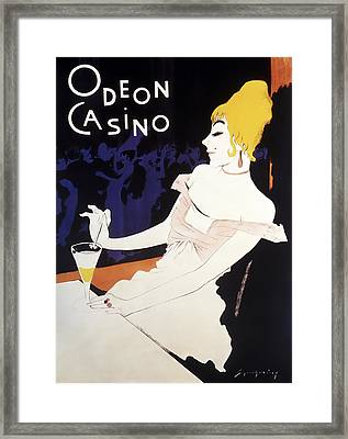 Odeon Casino French C. 1920 Framed Print by Daniel Hagerman