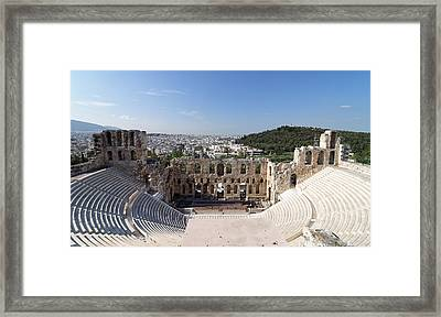Odeon Of Herodes Atticus -- Ancient Amphitheater In Athens, Greece Framed Print by Darin Volpe