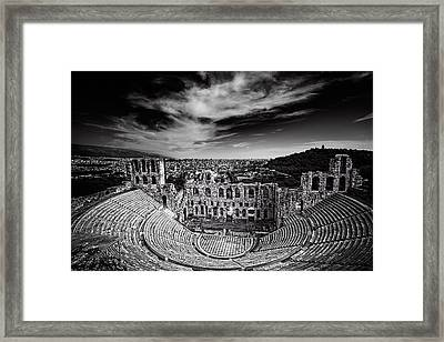 Odeon Of Herodes Atticus Framed Print by Ian Good