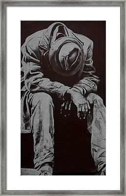 Odis Framed Print by Lamark Crosby