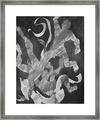 Odysseus Saved From Drowning By Inos Veil Framed Print by Chris  Riley