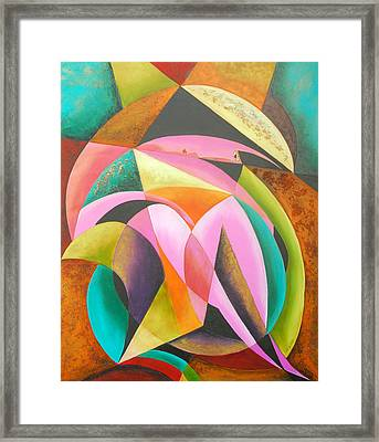 Odyssey Of Colors Framed Print by Marta Giraldo