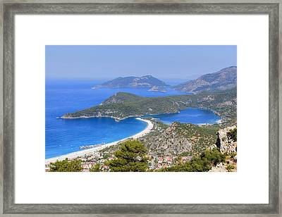 Oeluedeniz - Turkey Framed Print by Joana Kruse