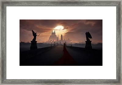Of Angels And Demons Framed Print
