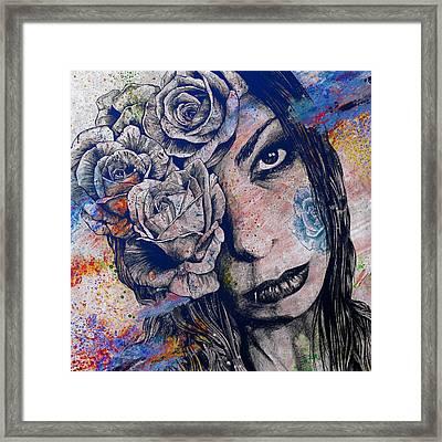 Of Blue Suffering Framed Print