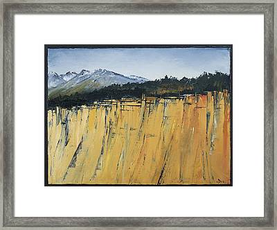 Of Bluff And Mountain Framed Print by Carolyn Doe