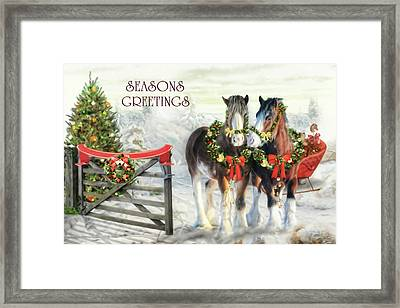 Of Christmas Past  Framed Print