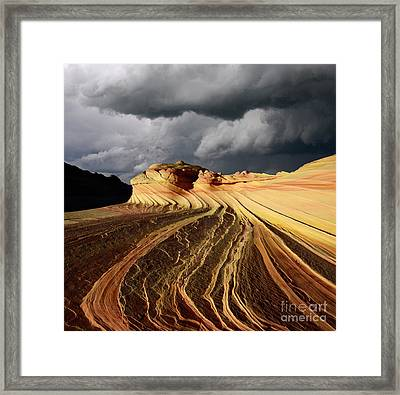Of Cloud And Stone Framed Print by Bob Christopher