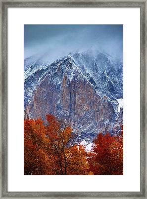 Of Fire And Ice Framed Print by John De Bord