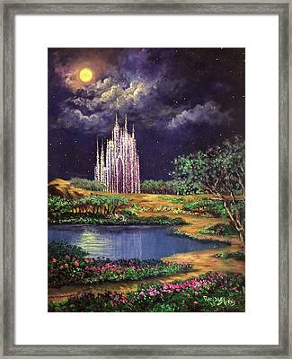 Of Glass Castles And Moonlight Framed Print