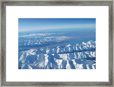 Of Peaks And Lakes Framed Print