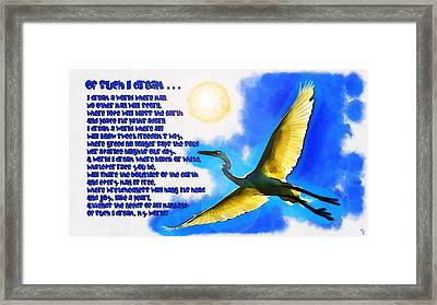 Of Such I Dream .................. Framed Print by Sir Josef - Social Critic -  Maha Art
