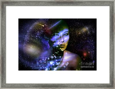 Of The Stars Framed Print by Shadowlea Is