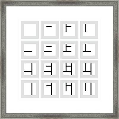 Of Thirds - 24 Framed Print