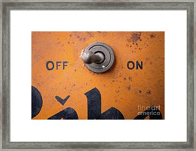 Off And On Framed Print