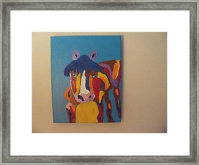 Off And Running Framed Print by Rhonda Jackson