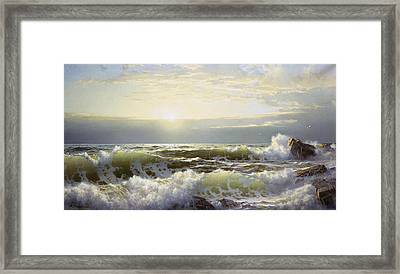 Off Connecticut Newport Framed Print by William Trost Richards